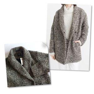 A&F Wool Blend Coat Oversized Overcoat